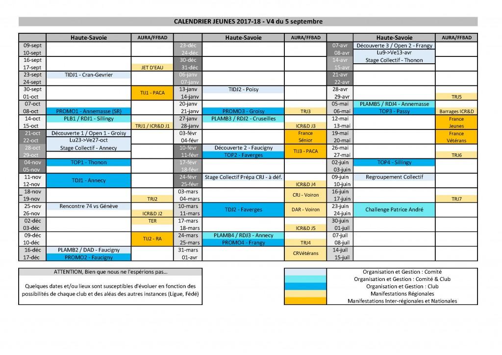 Calendrier Jeunes 17-18 V4 - 5 septembre