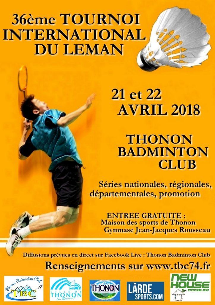 36ème Tournoi International du Léman - Thonon - Samedi 21 & Dimanche 22 avril 2018 @ Thonon-les-Bains | Auvergne-Rhône-Alpes | France