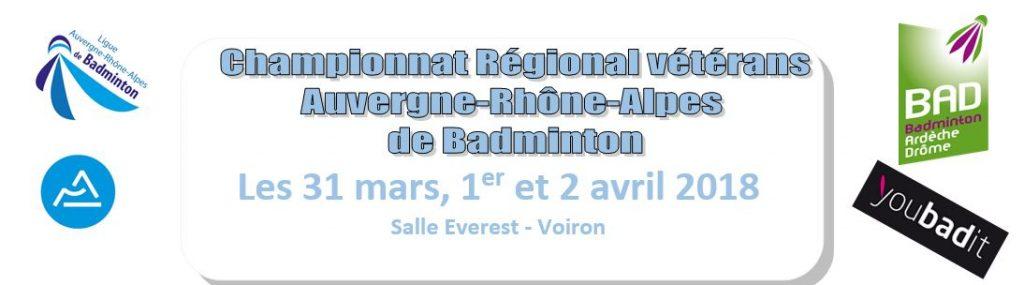 Championnat Régional Vétérans AURA - Voiron 38 - 31 mars, 1er et 2 avril 2018 @ Voiron | Auvergne-Rhône-Alpes | France