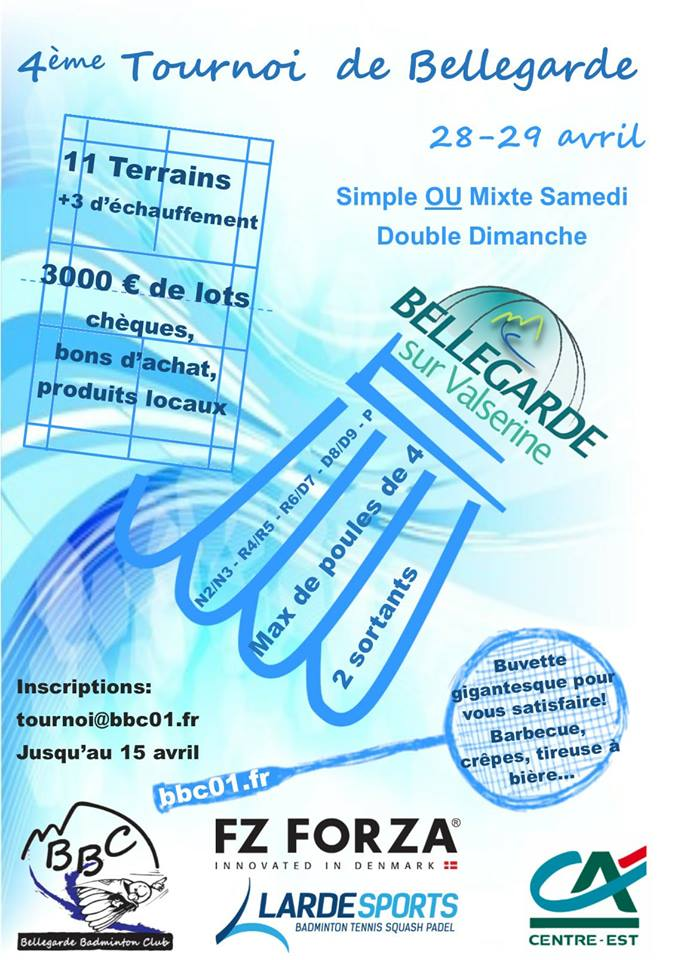 4ème tournoi de Bellegarde/Valserine (01) @ Bellegarde-sur-Valserine | Auvergne-Rhône-Alpes | France