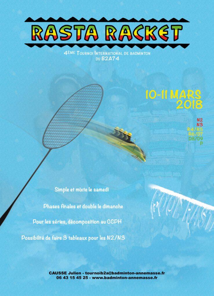 Rasta Racket - 4ème Tournoi International du Badminton Annemasse Agglo B2A74 @ Annemasse | Auvergne-Rhône-Alpes | France